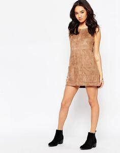 Image 4 - New Look Petite - Robe tunique en suédine