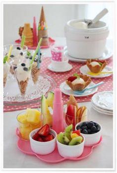かめ代のかんたん!かわいい!おうちパーティー「アイスクリームパーティー♪」 | お菓子・パンのレシピや作り方【corecle*コレクル】