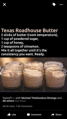 The Absolute Best and Easiest Cinnamon Honey Butter Recipe. Grab this recipe and whip some up for your next meal. New Recipes, Snack Recipes, Cooking Recipes, Favorite Recipes, Copycat Recipes, Recipies, Side Recipes, Flavored Butter, Butter Recipe