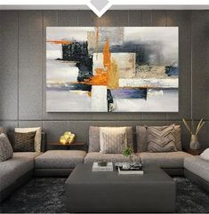Large Abstract Wall Art Paintings for Living Room, Hand Painted Acrylic Paintings – Page 5 – Silvia Home Craft Living Room Canvas, Living Room Paint, Canvas Paintings For Sale, Paintings Online, Artwork Online, Hand Painting Art, Painting Canvas, Canvas Art, Diy Painting