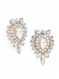 Crystal Neptune Studs | http://rstyle.me/n/d48zisque
