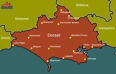 dorset england | Dorset England Map...