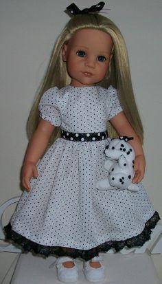 "101 Dalmatian dress hair slide & puppy 18"" Dolls Designafriend/Gotz hannah"