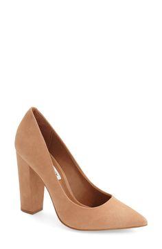 Steve Madden 'Primpy' Pointy Toe Block Heel Pump (Women)