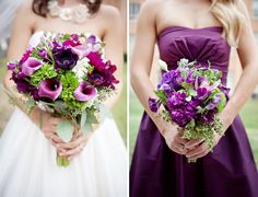 Beautiful purple bouquets