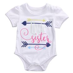 The Best Toddler Baby Boy Short Sleeve Arrow Letter Print Romper Tops Infant Clothes Kids Clothing Onesies Newborn Clothes Kinder Kleider To Reduce Body Weight And Prolong Life Bodysuits Mother & Kids