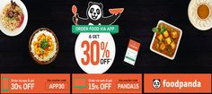 Get Flat 30% Off On All Orders From #Foodpanda. Offer Valid Only For New Users. Offer Valid For Online Orders Only