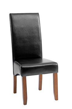 Krzesło BAKKELY skóra ekologiczna brąz | JYSK