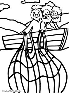 Miraculous Catch Of Fish Coloring Page Pages Are A Great Way To End Sunday School Lesson They Can Serve As Take Home Activity