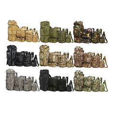 Outdoor Military Tactical Camping Hiking Trekking Backpack 8L to 80L