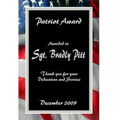 Northwest Gifts - Laser Engraved PlaqueMates American Flag Plaque, $32.95 (http://northwestgifts.com/laser-engraved-plaquemates-american-flag-plaque/)