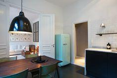 Minty Smeg fridge and folding chairs