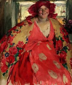 Smiling Girl, by Abram Arkhipov (Russian, 1862-1930)