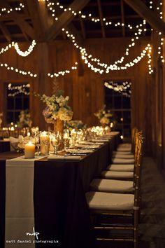 lighting and table decor