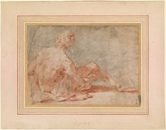 Andrea Boscoli | Seated Male Nude | Drawings Online | The Morgan Library & Museum