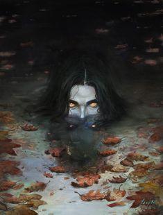 Nokke I n Demon art Dark Fantasy Art, Fantasy Kunst, Digital Art Fantasy, Arte Horror, Horror Art, Fantasy Creatures, Mythical Creatures, Art Sinistre, Art Noir