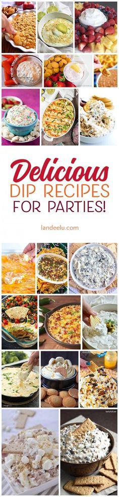 Amazing party food ideas... so many delicious dip recipes!