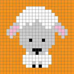Zoodiacs sheep c2c crochet graph                                                                                                                                                                                 More