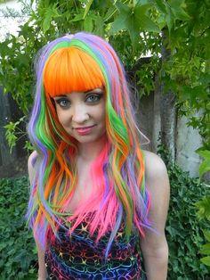 neon wavy hair | Neon Hair via ExandOh