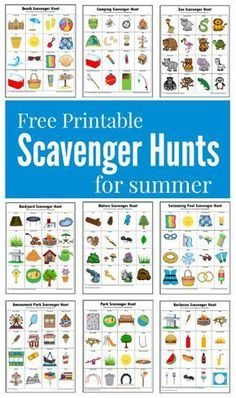 Hunts {Free Printables} These summer themed scavenger hunts will keep your kids busy and entertained this summer.These summer themed scavenger hunts will keep your kids busy and entertained this summer. Summer Scavenger Hunts, Nature Scavenger Hunts, Scavenger Hunt For Kids, Kindergarten Scavenger Hunt, Outdoor Scavenger Hunts, Scavenger Hunt Clues, Photo Scavenger Hunt, Summer Activities For Kids, Summer Kids