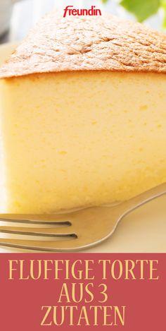 Schnelles Rezept: Fluffige Torte mit nur drei Zutaten