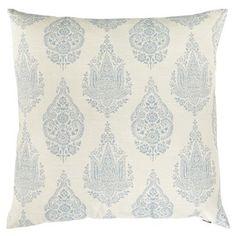 Rambagh Woven Paisley Pillow - Smoke Blue