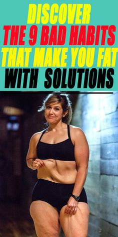 Discover The 9 bad Habits that make you fat with solutions Put On Weight, Easy Weight Loss, Muscle Building, Build Muscle, Body Workouts, Gym Training, How To Eat Less, Bad Habits, Total Body