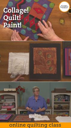 Are you ready to learn one of Heather Thomas's favorite ways to create decorative quilts? This technique relies on the use of white or off white highly textured fabrics, simple machine stitching and glorious painting.  Each piece begins with a collage of textural fabrics, no color, just texture. Then the piece is quilted using very simple fills. After the stitching is complete the real fun comes with paint.