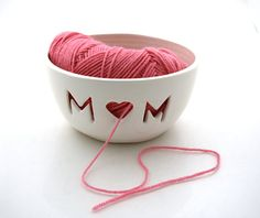 MOM Yarn Bowl Great gift for Mothers Day by LennyMud on Etsy, $34.00