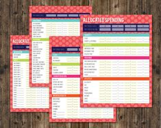 Allocated Spending Sheets Dave Ramsey by AllisonRainsDesigns