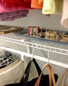 S hooks for belts/purses, scarves? My Closet Makeover: The REAL Story (and a few good ideas!)