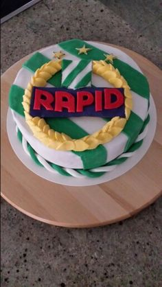 Rapid Torte Birthday Cake, Andreas, Party, Desserts, Birthday Cake Toppers, Cake Ideas, Bakken, Football Soccer, Biscuits