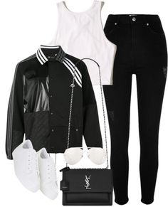 Untitled #2243 by sarah-ihab featuring an adidas jacket