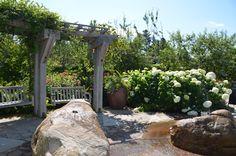 Whale Rocks in the Bibby and Harold Alfond Children's Garden at Coastal Maine Botanical Gardens.