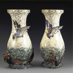 A PAIR OF LUNEVILLE VASES late 19th century  Sotheby's