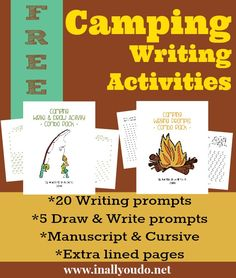 Camping Writing Activities {free printables} - In All You Do