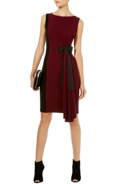 Red Bow jersey dress   KarenMillen Stores Limited