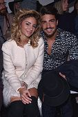 Eleonora Brunacci and Mariano Di Vaio attend the Costume National show during the Milan Fashion Week Autumn/Winter 2015 on February 26 2015 in Milan...