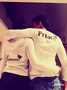 So cute!! Matching couples sweater s, matching jackets, matching hoodies... Prince and Princess sweaters