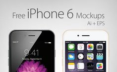 Free iPhone 6 Mockups AI EPS - Blog du MMI | http://blogdummi.fr/infographie/ressources-collection-mockups-iphone-6/ #Photoshop #Mockups #Template #PSD #iPhone6 #freebies