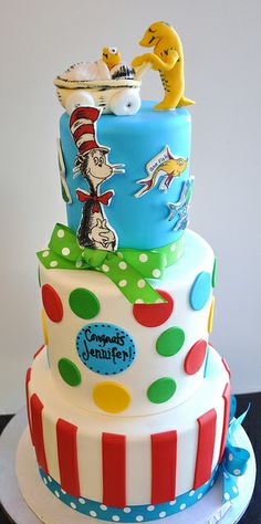 Dr. Seuss Cake from thecakemamas via Flickr