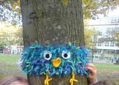 yarn bomb owl....cute!