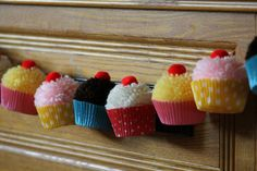 Cupcake Birthday Party Cupcake PomPom by CupcakeWishesStore