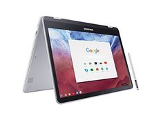 "2017 Flagship Samsung 12.3"" 2-in-1 Convertible Chromebook Plus - QHD (2400 x 1600) Touchscreen, OP1 Hexa-core 2.0GHz, 4GB RAM, 32GB eMMC, Bluetooth, Webcam, 10hr Battery Life, Chrome OS- Pen included"