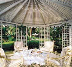 The Great House in Barbados and the Rothschilds. Interior Design Michael S. Smith. Image via Cote De Texas