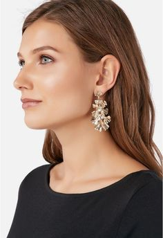 JustFab Gilded Girls Earrings Womens Gold Size OSFM