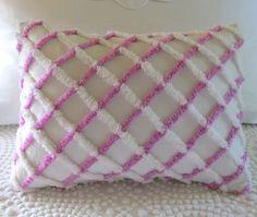 LILAC LATTICE vintage chenille pillow cover by moreChenilleChateau, $49.00