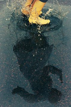 The joy of puddles. Rain photography.