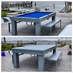 Custom Outdoor Pool Table Waterproof Design All Aluminum - Aluminum pool table