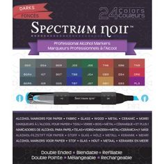 New Generation Spectrum Noir Alcohol Ink Markers Darks 24 Markers